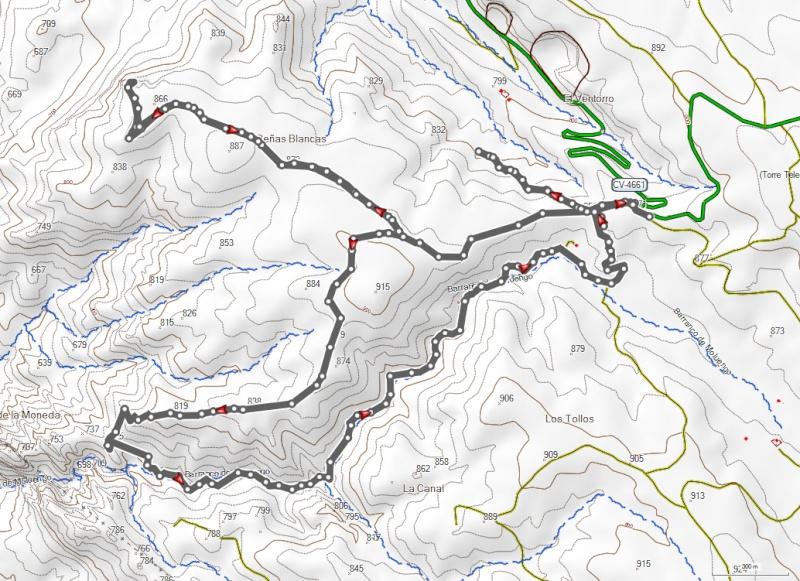 """Domingo 31 de Mayo de 2015 """"Peñas Blancas - Cuchillos del Río Cabriel"""" Parque Natural de las Hoces del Río Cabriel. Mapa_c10"""