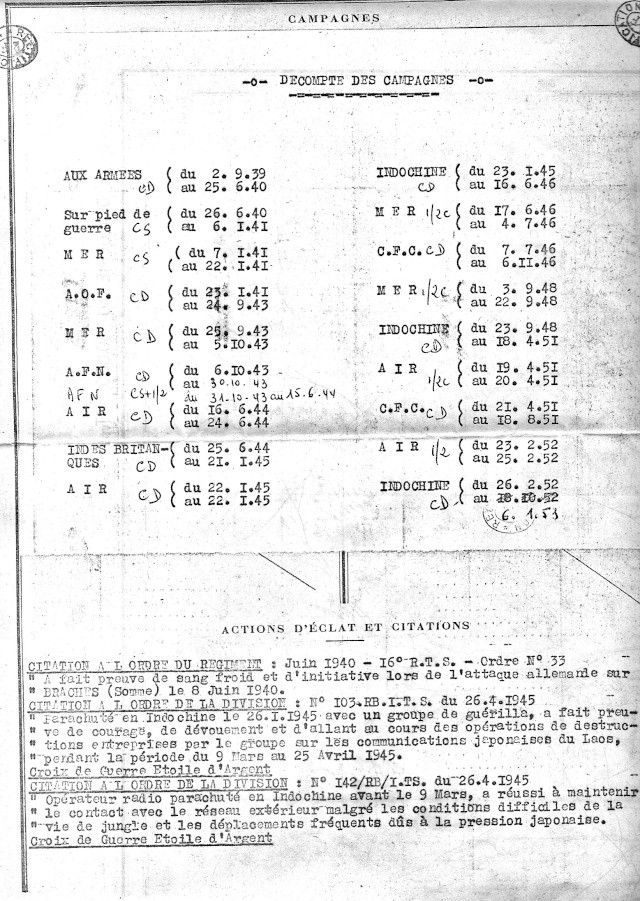 1ère demi-brigade de parachutistes au Laos en octobre 1945 3_camp11