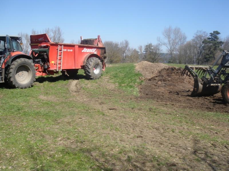 fumier ou compost sur céréales P4072210