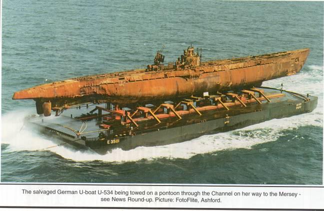 récupération de l'U-Boat 534 U534_t10