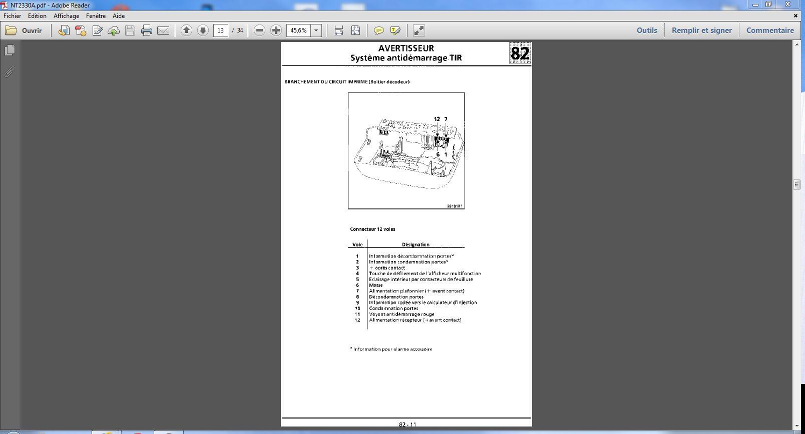 probléme anti démarrage avec clef infrarouge twingo d7f 1999 Electr15