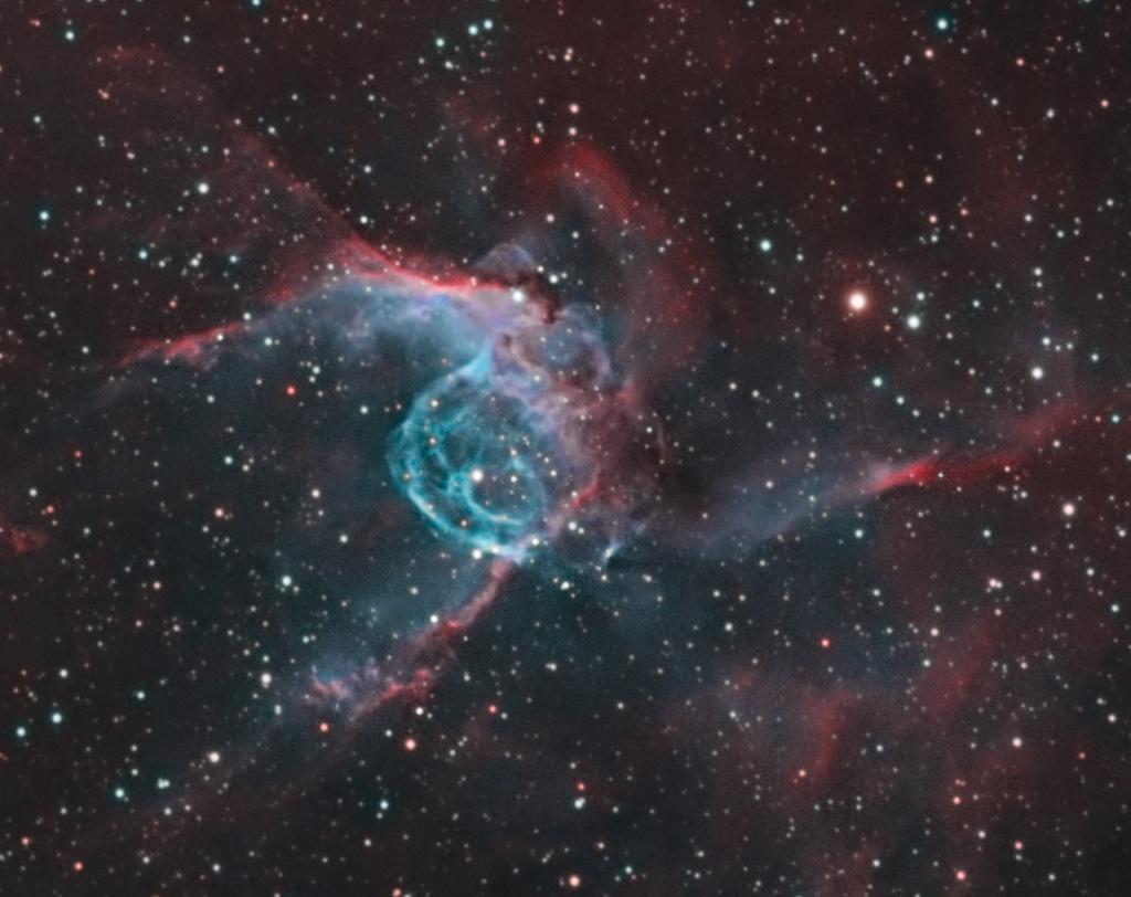 Casque bleu de Thor - NGC 2359 - SHO Coeur10