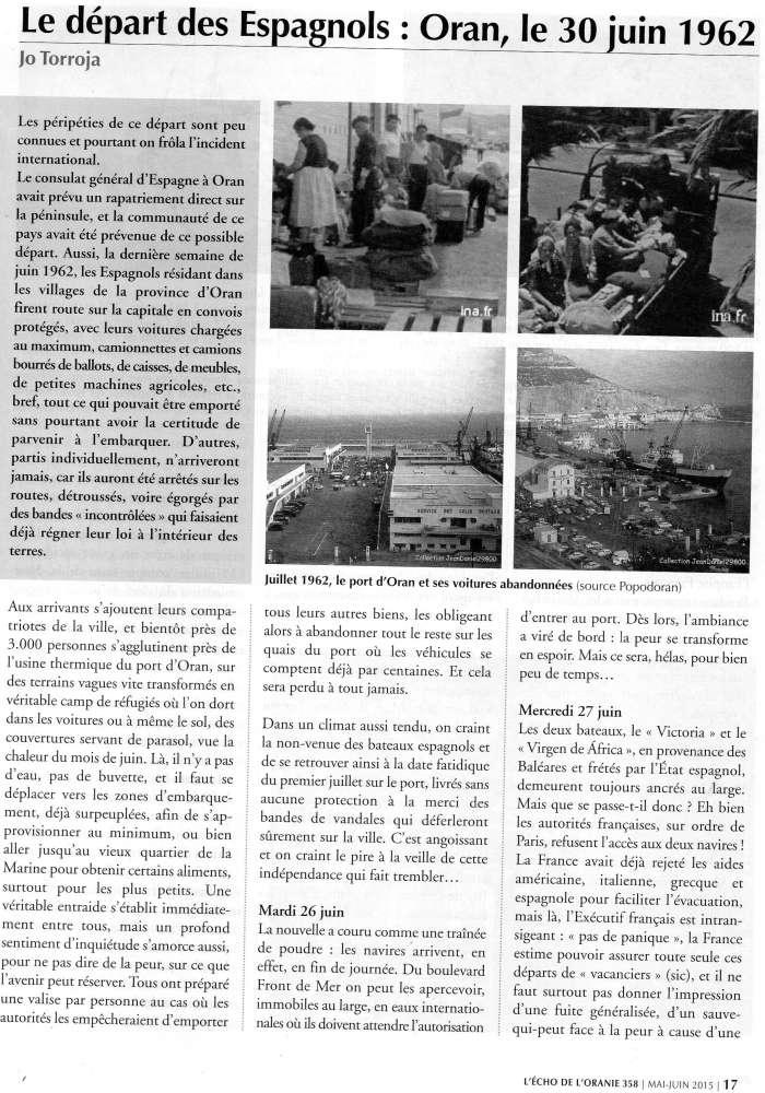 EVACUATION DES ESPAGNOLS D'ORANIE EN JUIN 1962 Img36710