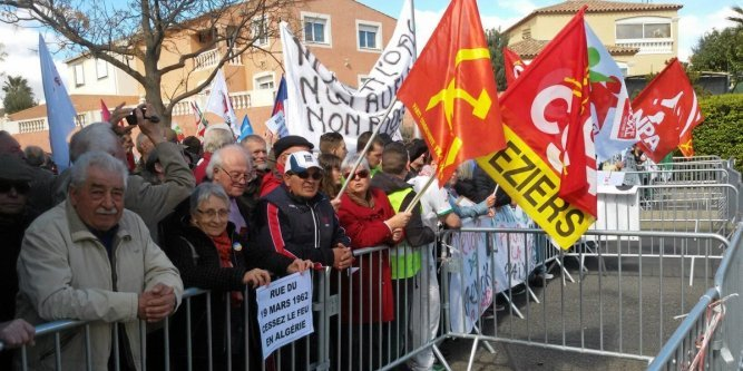 Quand il s'agit de patriotisme, la canaille est toujours là.....Communistes, FNACA, porteur de valises La-man10