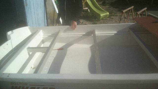 amménagement de mon boston whaler 13' en bass boat Boat_113