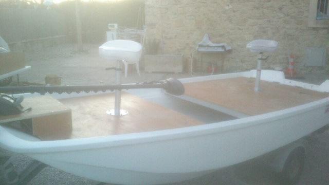 amménagement de mon boston whaler 13' en bass boat Boat_410
