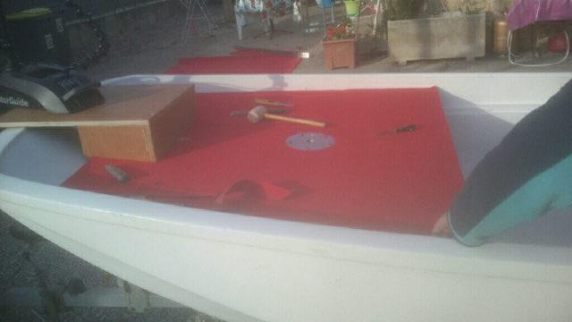 amménagement de mon boston whaler 13' en bass boat Boat_610
