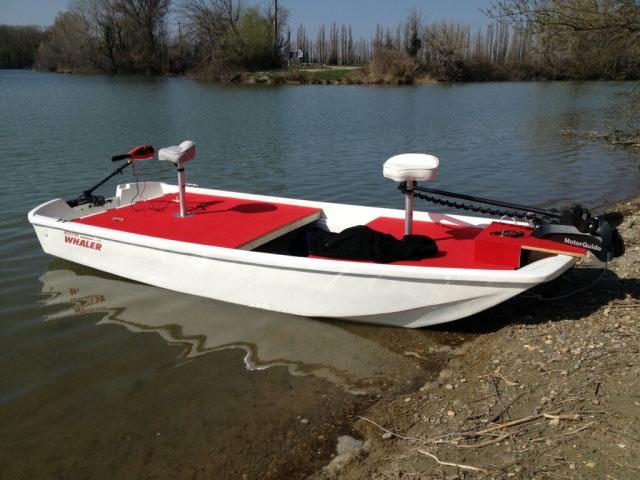 amménagement de mon boston whaler 13' en bass boat Boat_810