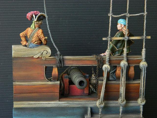 pirates sur pont de navire (peinture du décor fini) - Page 6 Dscn2810