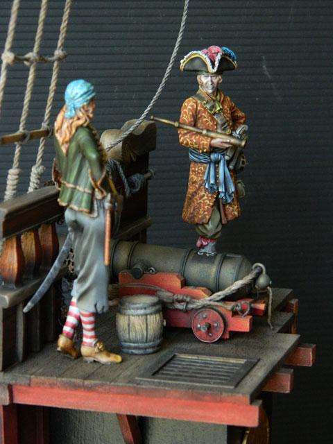 pirates sur pont de navire (peinture du décor fini) - Page 6 Dscn2811