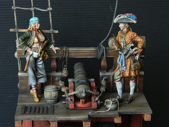 pirates sur pont de navire (peinture du décor fini) - Page 6 Dscn2812