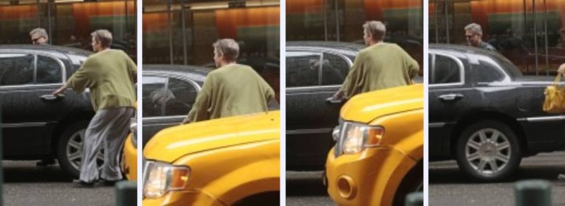 George Clooney in the streets of NY 11081211