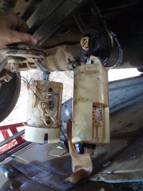 mode opératoire changement jauge carburant Td P4216214