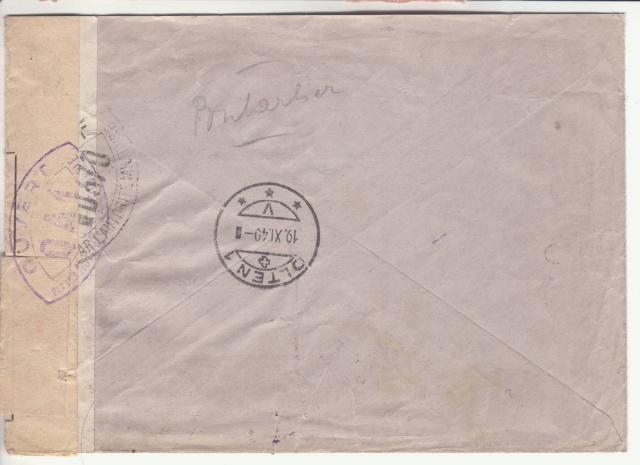 Lettre recommandée de Suisse du 18.10.1939 pour Paris - Retour à l'envoyeur _1100110