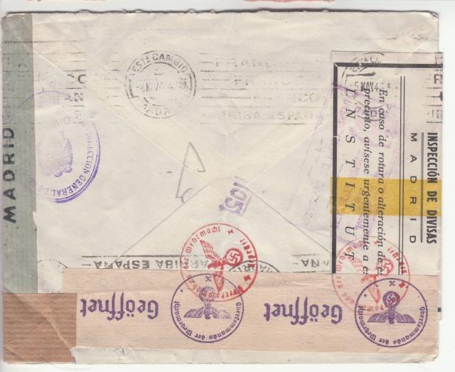 Contrôle des devises du courrier au départ d'Espagne. _4002910