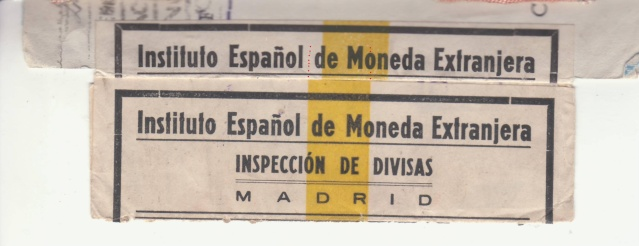 Contrôle des devises du courrier au départ d'Espagne. _5002610