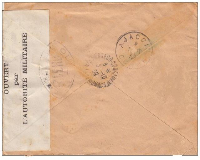 Bande de fermeture hors du commun de la commission OH 312 Ajaccio en octobre 1939. Oh_31213
