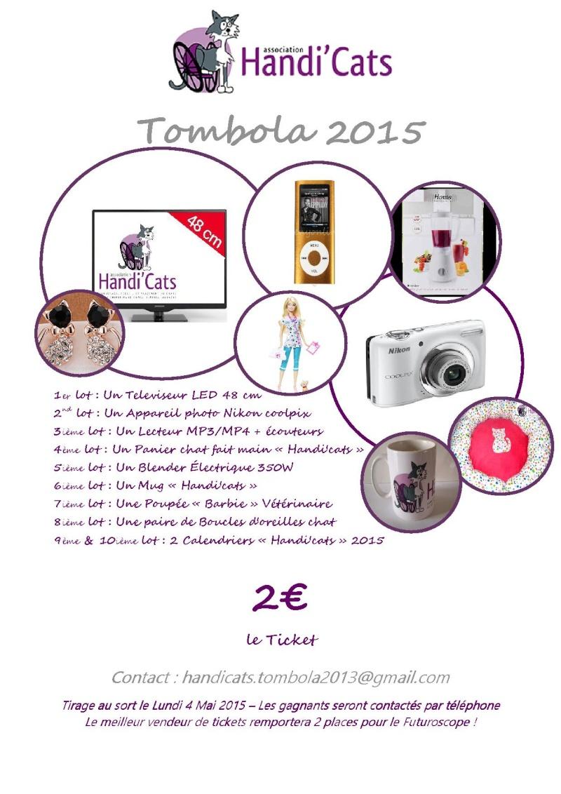 """Tombola 2015 : Au profit de """"la maison des handicapés ! Affich10"""