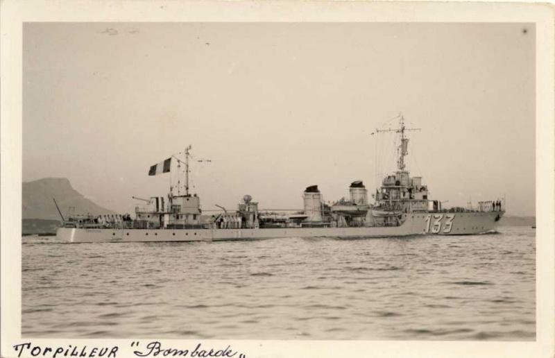 Les torpilleurs français Bombar10