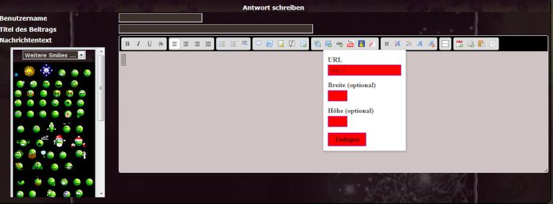 schriftfarbe - Schriftfarbe ändern in Texteingabefeldern der Toolbar des Editors Funzt_10