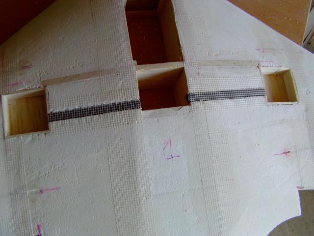 Construction de 2 Horten HO 229 avec des chutes de polystyrène Horten28