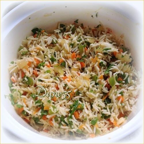 Riz basmati aux légumes cuit au four 5rx6sc10