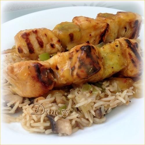 Brochettes de poulet sauce à l'orange Ngyviw10