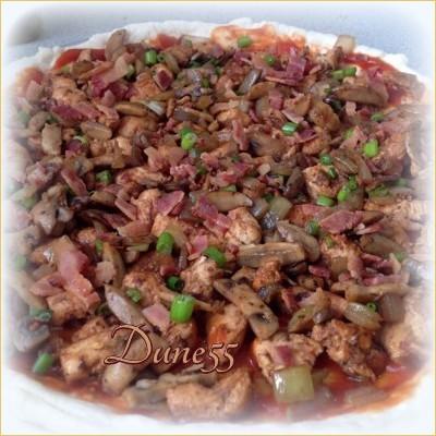 Pizza poulet salsa Slryz010
