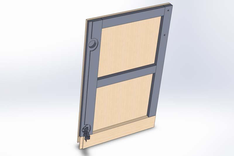 Aménagement d'un placard [Terminé] Porte-10