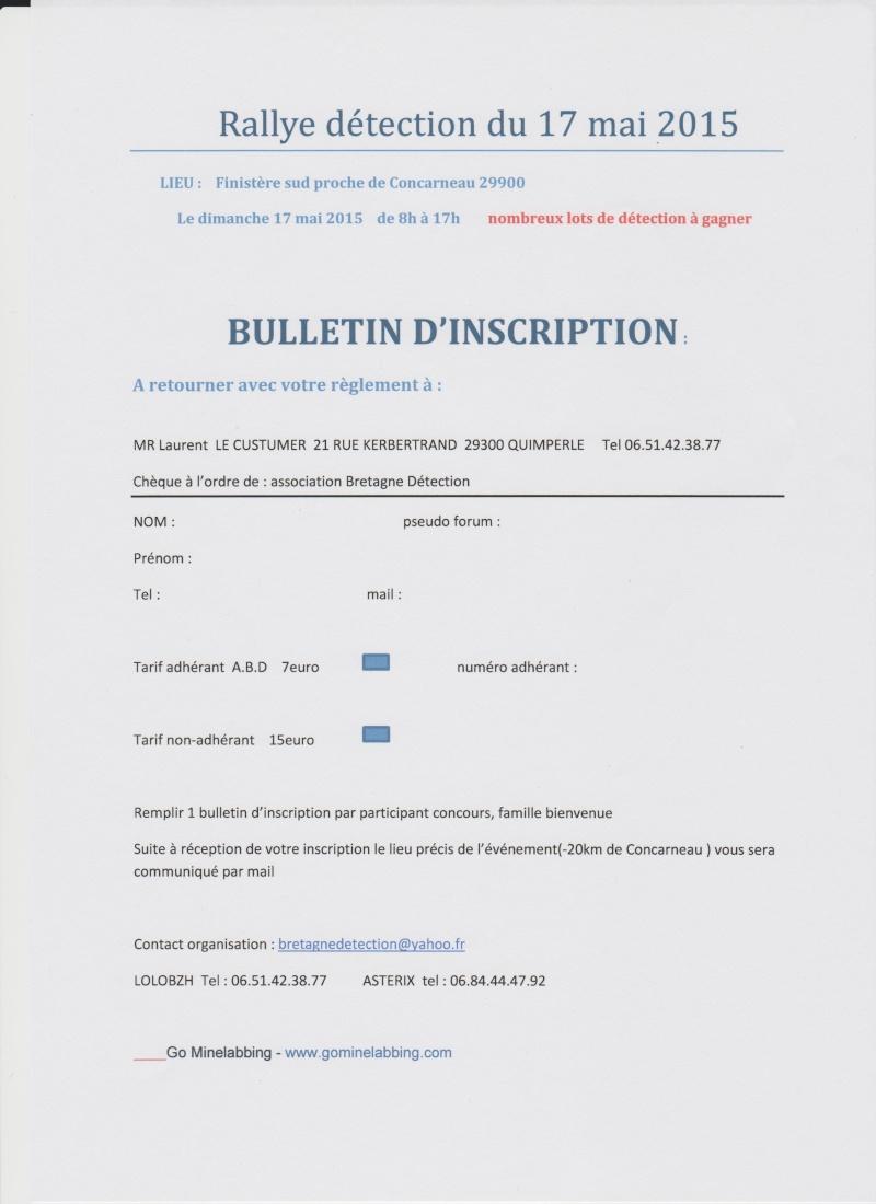 RALLY DIMANCHE 17 MAI 2015 journée mondiale de la détection  Bullet12