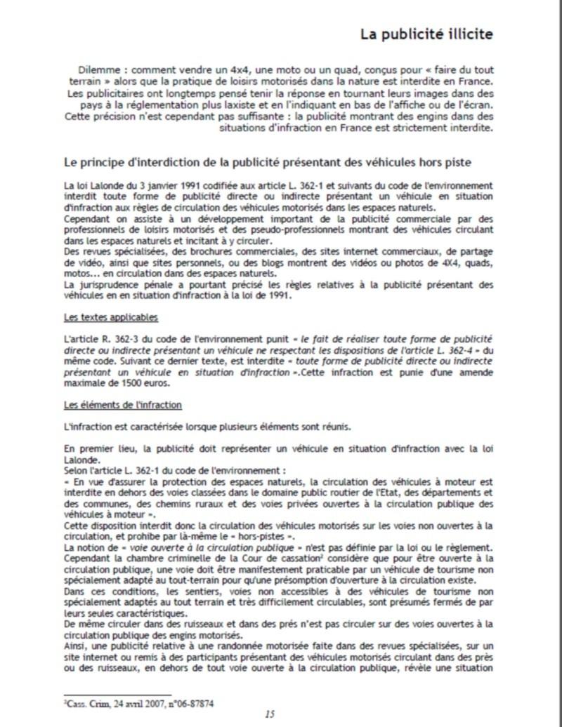 Loi Lalonde diffusion publicité/vidéo sur le net  Text_l10
