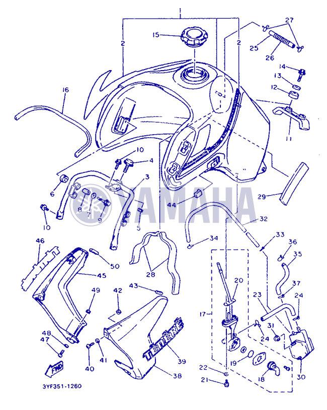 Remise en état des fixations de carénage XTZ 660 de 1991 Part_210