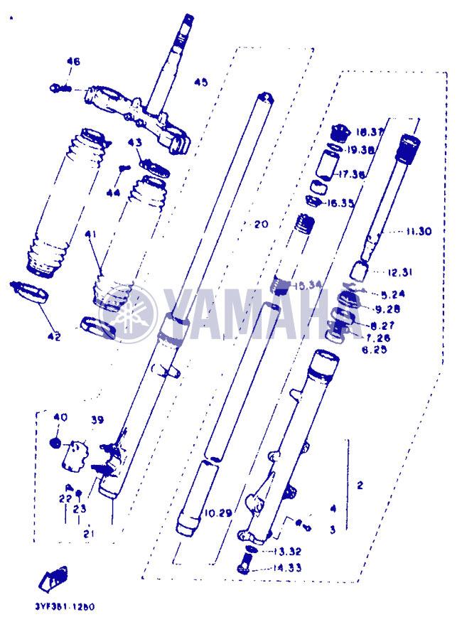 Remise en état des fixations de carénage XTZ 660 de 1991 Part_211