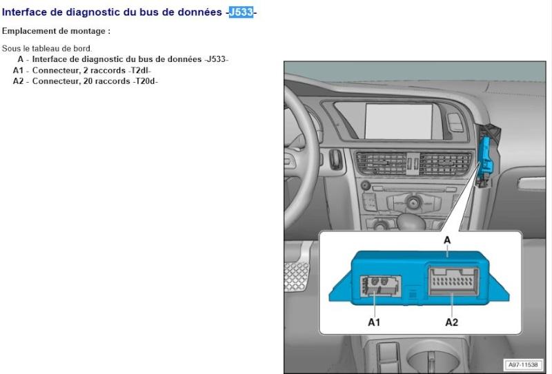 Audi B8 démontage Gateway J533 Captur51
