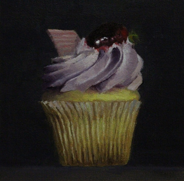 Painting #110:  Cake in a Cup Cup_ca10