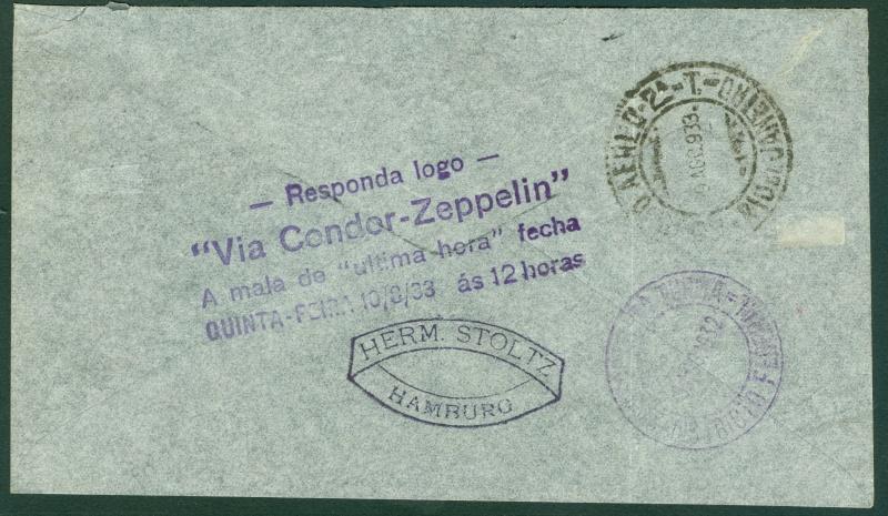 Südamerikafahrten LZ 127 1933 Lz_12711