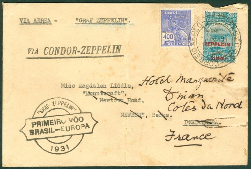 """""""Südamerikapost per Zeppelin"""" Zeppel10"""