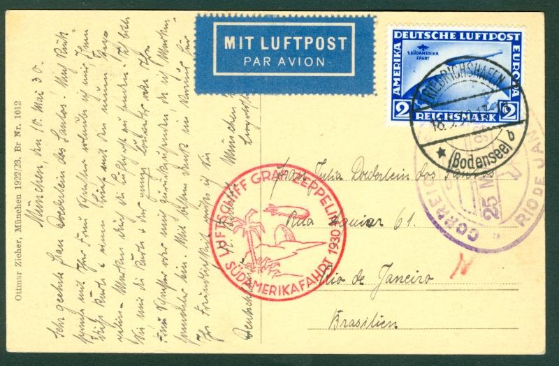 nach - Südamerikafahrt 1930, Post nach Rio de Janeiro - Seite 2 Zeppel14