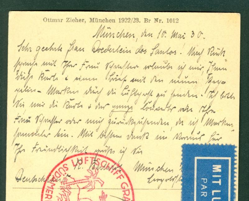 nach - Südamerikafahrt 1930, Post nach Rio de Janeiro - Seite 2 Zeppel16