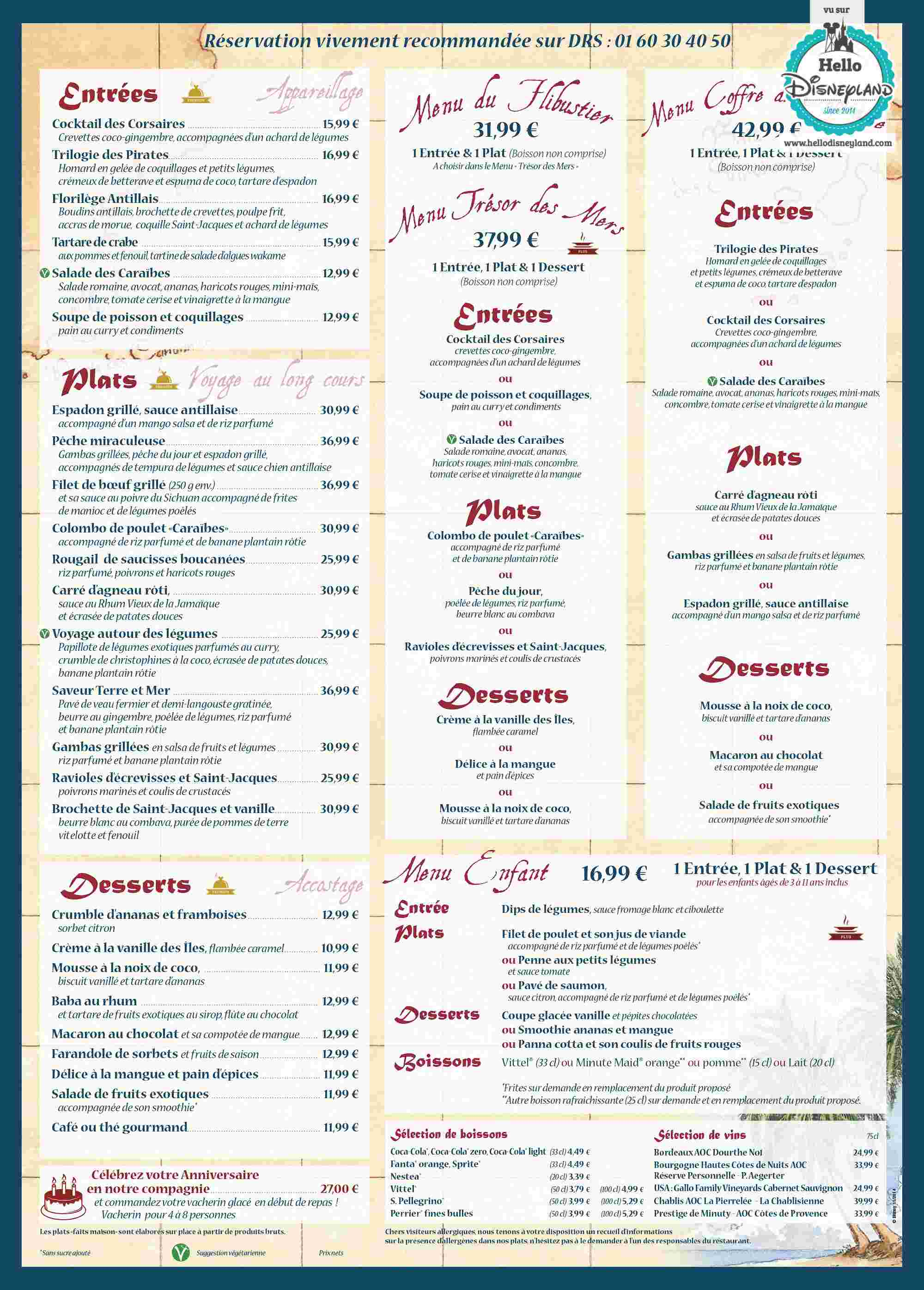 Adventureland :: Captain Jack's - Restaurant des Pirates - Pagina 22 Menu-r13
