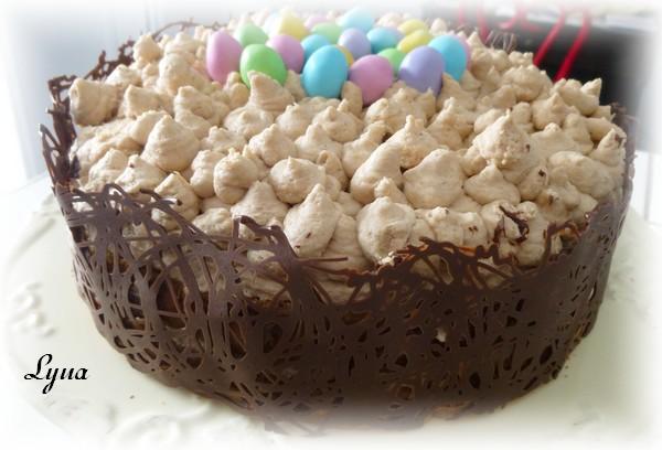 Gâteau éponge au chocolat, mousse caramel et nutella Gateau13
