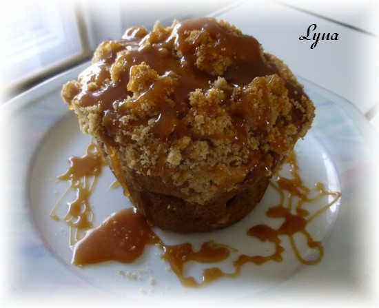 Muffins aux pommes avec caramel à la fleur de sel Muffin13