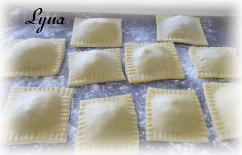 Ravioli de canard confit, sauce au fromage de chèvre Raviol11