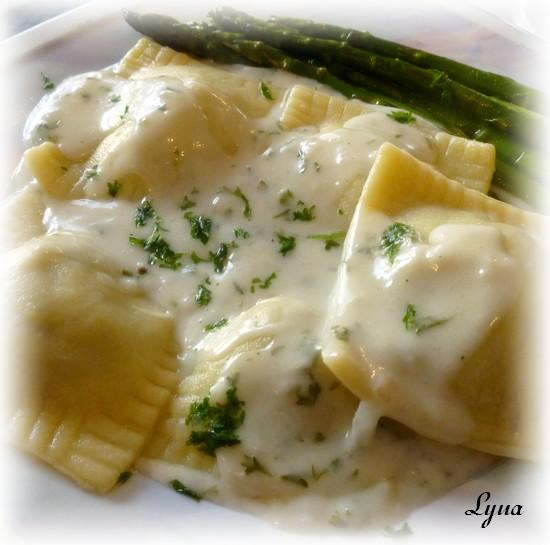 Ravioli de canard confit, sauce au fromage de chèvre Raviol12