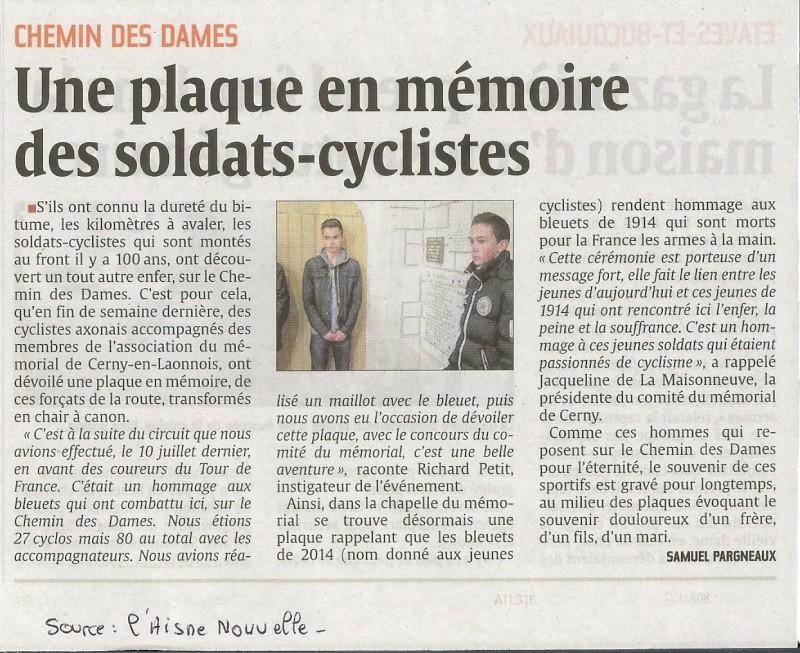 article de presse sur le soldats Cyclistes Soldat10