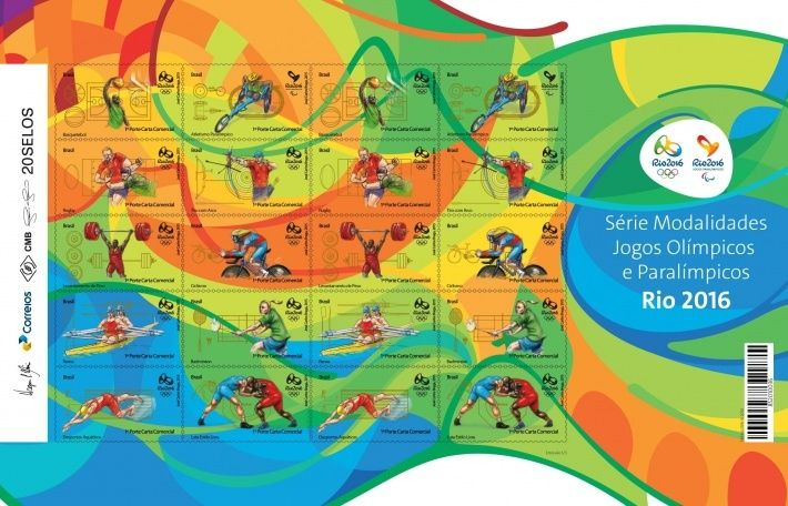 Rio 2016 Stamps - Olympic Games - Basketball, rugby, weightlifting, rowing, aquatics, archery, cycling, badminton & wrestling _rio2010