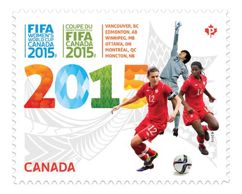Coupe du Monde de Football Féminine de la FIFA - Canada 2015 - Timbre officiel Fifa_w10
