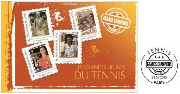 "Timbres (France) - Album Collector ""Les Grandes Heures du Tennis"" Tennis10"