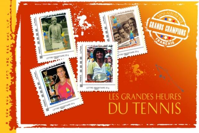"Timbres (France) - Album Collector ""Les Grandes Heures du Tennis"" Tennis11"