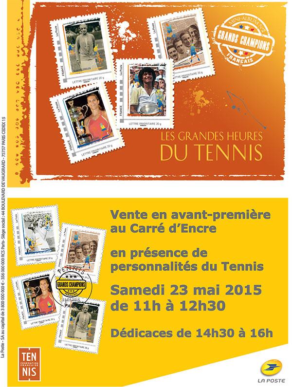 "Timbres (France) - Album Collector ""Les Grandes Heures du Tennis"" Tennis13"